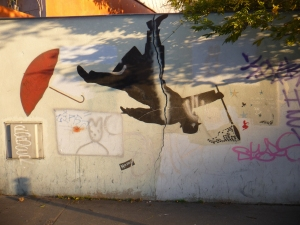 Nemo on a wall near Télégraphe