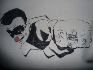 Jef Aerosol clown punch