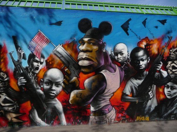 The famous 'Murmur', a great place to see street art in Paris