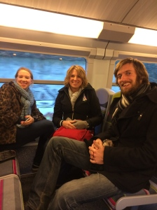 With the Nell family on the train to Versailles