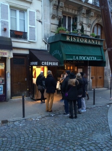 Waiting for the best crepes, in Montmartre